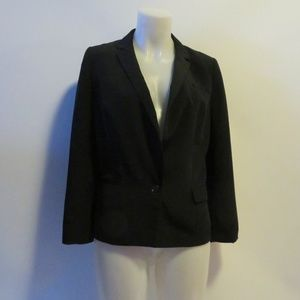 WOMENS BANANA REPUBLIC BLACK LINED BLAZER SZ 8*